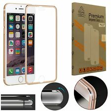 Metal Edge iPhone 7 Plus Gold Gorilla Tech Brand Screen Protector Tempered Glass