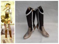 Puella Magi Madoka Magica Mami Tomoe Cosplay Costume Boots Boot Shoes Shoe