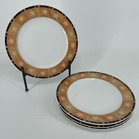 "Set of 4 - 1999 Sakura Warren Kimble ""Rooster"" Ceramic Dinner Plates"