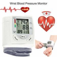 UK Digital Wrist Blood Pressure Monitor Heart Beat Rate Pulse BP Measure Machine