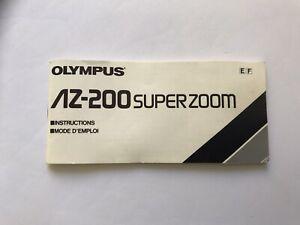 Olympus AZ-200 Operating Instructions