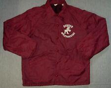 Vintage Cobden Appleknockers Maroon Jacket Large Adults Fleece Lined Coat F13