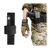 Universal Adjustable Pistol Holster With Hook Loop Botton Snap Closure for Gun