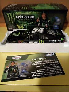 2012 Kurt Busch 54 Monster Energy Richmond Win Raced Version KBM