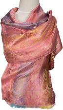 Schal 100% Seide, silk  scarf  foulard écharpe soie Rosa light pink