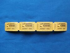 Hollywood Theaters Tickets Admit One (Strip of 4) Drive-In Movie Theatre/Cinema