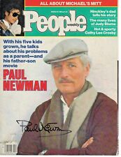 Paul Newman Cool Hand Luke Autograph Hand Signed People Magazine Cover 1984