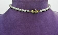 "FINE JKa Estate Superior Cultured AA Akoya PEARLS Necklace Choker 12.75"" Germany"