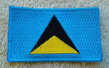 SAINT LUCIA FLAG PATCH Embroidered Badge Iron or Sew on 4.5cm x 6cm Sainte-Lucie