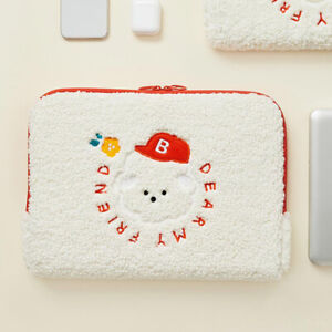 "Cute 11"" Dreaming Bichon Tablet ipad Padded Pouch Bag Case Pockets Pen Holder"