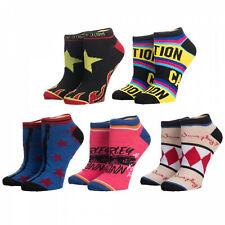Harley Quinn Birds of Prey 5 Pair Womens Ankle Socks Multi-Color