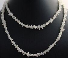 Piedra de la Luna Collar preciosas INTERMINABLE ca.90 cm cadena minerales, SIN