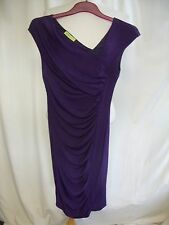 Ladies Dress Versace Jeans purple asymmetric shoulder, bodycon, US 4 EU 34, 2459