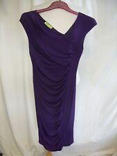 Ladies Dress Versace Jeans purple asymmetric shoulder, bodycon, US 4 EU 34, 2459