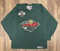 Minnesota Wild Vintage CCM NHL Hockey Center Ice Jersey L Stanley Cup