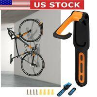 2PC Bicycle Bike Cycling Wall Mount Hook Hanger Garage Storage Holder Rack Stand
