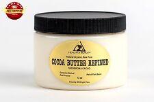 COCOA / CACAO BUTTER ULTRA REFINED ORGANIC NATURAL RAW GRADE A PRIME 12 OZ