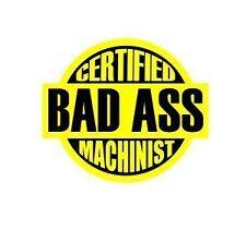 Certified Machinist work funny safety job hard hat / helmet vinyl decal sticker