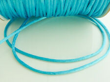 10 x mètres bleu turquoise 2 mm rattail queue de rat satin perles cordon fil de nylon