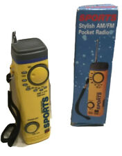 Sports Handheld AM / FM Pocket Radio Belt Clip Hand Strap
