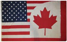 3x5 USA Canada Friendship Combo 3'x5' Rough Tex 100D Oxford Polyester Flag