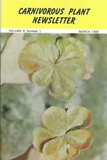 Carnivorous Plant Newsletter - British Society Drosera Regia Fungi - 03/81