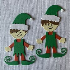Bitty Elf Elves Stocking Present Christmas Die Cuts (Toppers/Scrapbook)