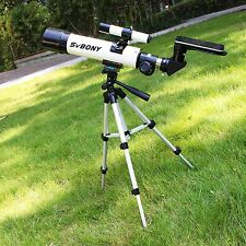 SV25 Refractor Telescope for Astronomy Beginner w/ Cell Phone Mount Adapter ON