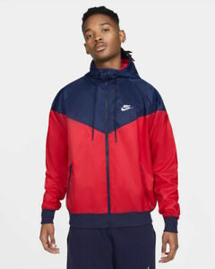 Nike Giacca Sportiva Windrunner Uomo Rosso Blue Sportswear