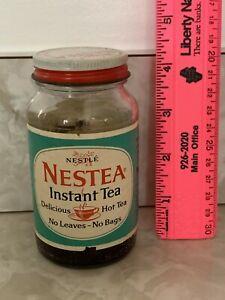 Vintage Nestea Instant Tea Jar 1.5 oz Size By The Nestle Co. No Tea Jar Only