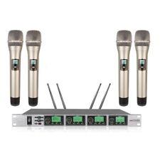 UHF Wireless Microphone  Handheld pll 4 Channels wireless microphone karaoke