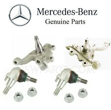 For Mercedes W212  Sedan Pair Set of 2 Front Steering Knuckles & Ball Joints Kit