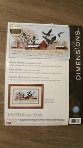 Dimensions cross stich kit Dimensions    geese in winter. unopened