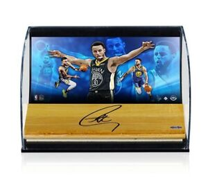 Stephen Curry Signed Autographed 8X10 Game Floor Display Warriors /30 UDA