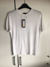 MARKS & SPENCER WOMENS WHITE SHORT SLEEVE JUMPER, Size 6, Bnwt