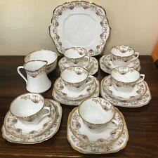 Royal Albert Excella Tea Service 6 x Trios Jug Sugar Bowl Plate - Good Condition