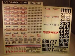 DECALS 1/18 PLAQUES RALLYE TOUR DE CORSE 1995 à 1998 - CARPENA  1816