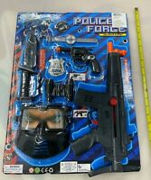 (1) All In 1 Police Officer Role Play Set Toy Toys Uniform Kids Kit Gun Knife