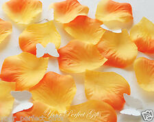 1000 ORANGE SILK ROSE PETALS WEDDING FLOWER FAVOR DECOR