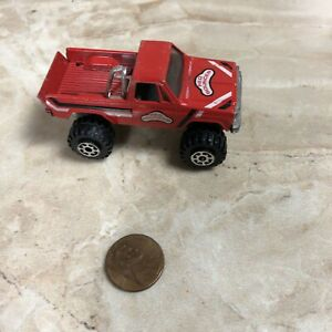 Vintage ROAD CHAMPS RED BOUNCER LIFTED GMC K-10 4X4 PICKUP Toy TRUCK 1/64 D