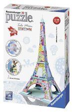Ravensburger Puzzle 3d Edificio Tula Moon Arte Torre Eiffel Multicolor obra de