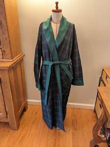 NWOT Vermont Country Store M Double Comfort Plaid Flannel Robe Portuguese Cotton