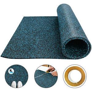 Rubber Flooring Rolls 3.6' x6.2',9.5mm Non-Slip Exercise Mat Exercise & Gym