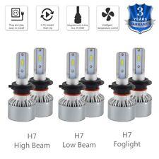 H7 For Benz ML350 ML500 06-07 Headlight & Foglight LED 6500K High Low Beam Bulbs