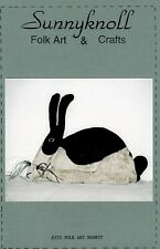 FOLK ART RABBIT DOLL AND PAINT PATTERN-OOP-SUNNYKNOLL FOLK ART & CRAFTS