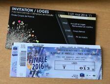 @TICKET + INVITATION - PARIS PSG - MARSEILLE OM - FINALE COUPE DE FRANCE 2016 @