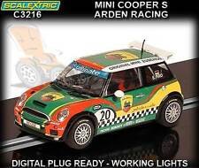 Scalextric C3216 Mini Cooper S Arden Racing 2009 - slot car with working lights