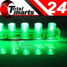 4x 24cm 24 LED Car Flexible Strip Light Bulb Neon Waterproof PVC 12V Green