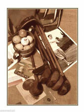 Vintage Golf Sepia by Bruce Curtis
