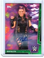 WWE Natalya 2018 Topps Women's Division Authentic Autograph Card SN 57 of 150